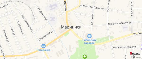 Фестивальный переулок на карте Мариинска с номерами домов