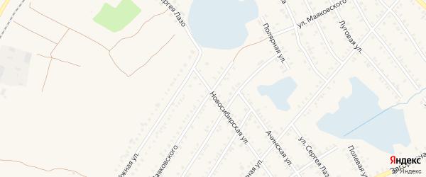 Улица Маяковского на карте Мариинска с номерами домов