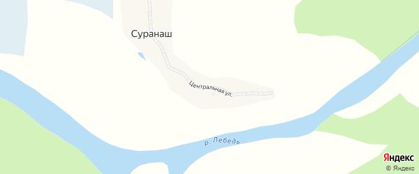 Центральная улица на карте села Суранаша Алтая с номерами домов