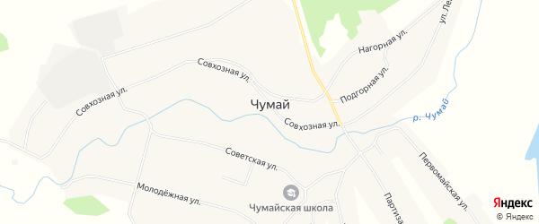 Карта села Чумая в Кемеровской области с улицами и номерами домов
