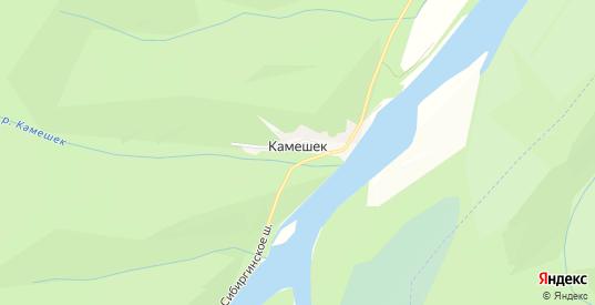 Карта поселка Камешек в Мыски с улицами, домами и почтовыми отделениями со спутника онлайн