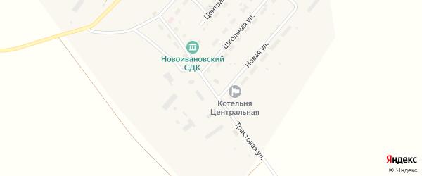 Трактовая улица на карте Новоивановского 4-й поселка Кемеровской области с номерами домов