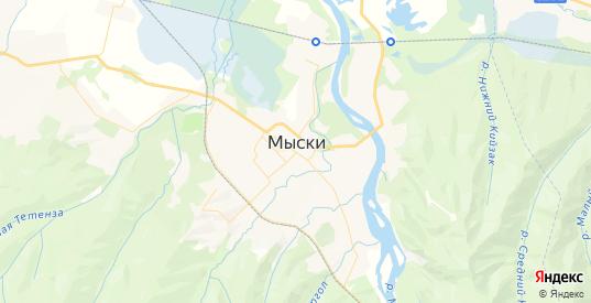 Карта Мыски с улицами и домами подробная. Показать со спутника номера домов онлайн