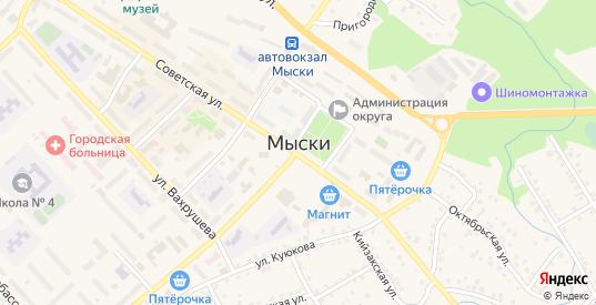 Улица Белые горы в Мыски с номерами домов на карте. Спутник и схема онлайн