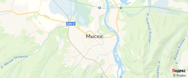 Карта Мыски с районами, улицами и номерами домов