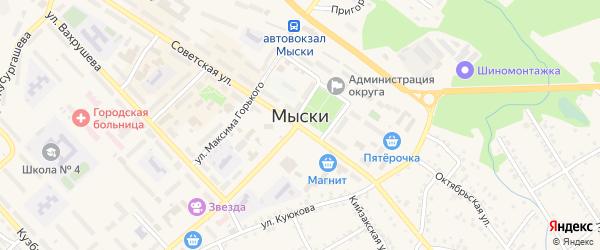 Стандартная улица на карте Мыски с номерами домов