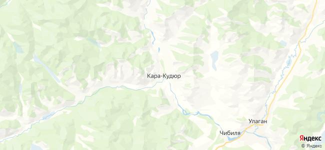 Кара-Кудюр на карте