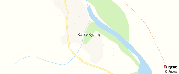 Подгорная улица на карте села Кары-Кудюр Алтая с номерами домов