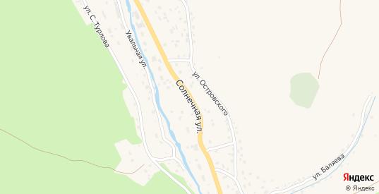 Солнечная улица в Таштаголе с номерами домов на карте. Спутник и схема онлайн