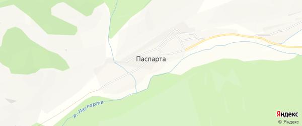 Карта села Паспарты в Алтае с улицами и номерами домов