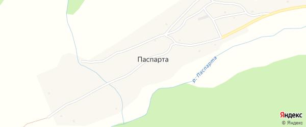 Заречная улица на карте села Паспарты Алтая с номерами домов