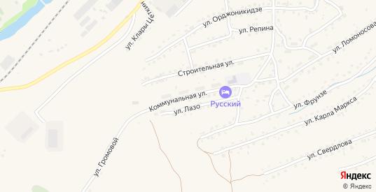 Коммунальная улица в Таштаголе с номерами домов на карте. Спутник и схема онлайн