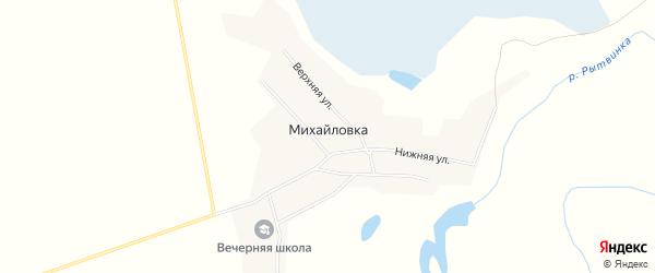 Карта деревни Михайловки в Кемеровской области с улицами и номерами домов