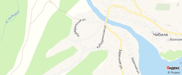 Кубадринская улица на карте села Чибили Алтая с номерами домов