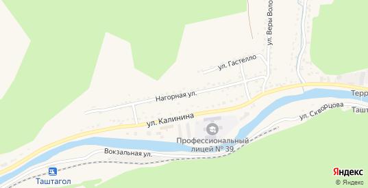 Нагорная улица в Таштаголе с номерами домов на карте. Спутник и схема онлайн