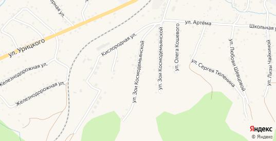 Улица З.Космодемьянской в Таштаголе с номерами домов на карте. Спутник и схема онлайн