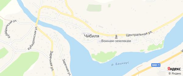 Новая улица на карте села Чибили Алтая с номерами домов