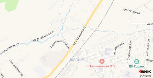 Улица Урицкого в Таштаголе с номерами домов на карте. Спутник и схема онлайн