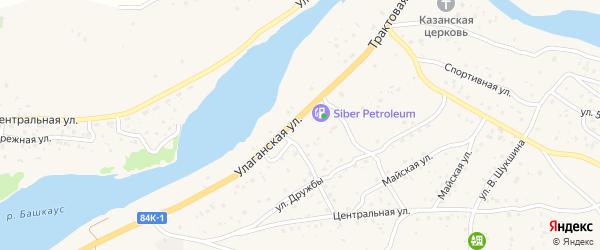 Трактовая улица на карте села Улагана Алтая с номерами домов