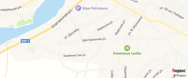 Центральная улица на карте села Улагана Алтая с номерами домов