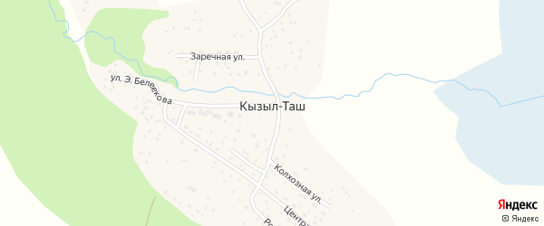 Колхозная улица на карте села Кызыла-Таш Алтая с номерами домов