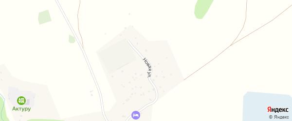 Новая улица на карте села Кызыла-Таш Алтая с номерами домов