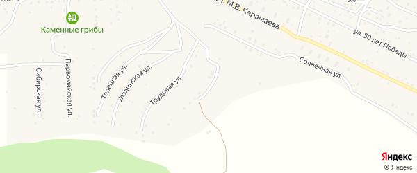 Восточная улица на карте села Улагана Алтая с номерами домов