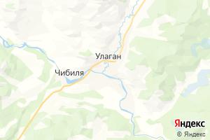 Карта с. Улаган Республика Алтай