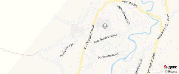 Улица Энергетиков на карте села Улагана Алтая с номерами домов