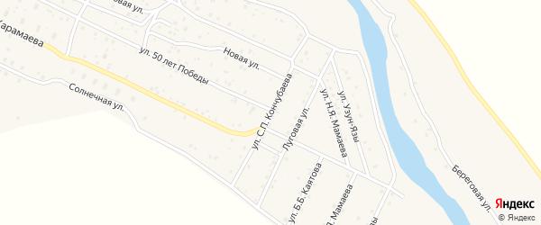 Улица С.П.Кончубаева на карте села Улагана Алтая с номерами домов