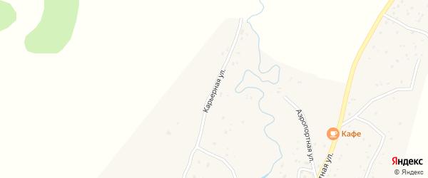 Карьерная улица на карте села Улагана Алтая с номерами домов