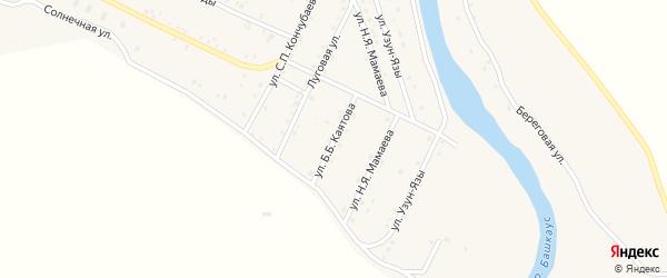 Улица Б.Б.Каятова на карте села Улагана Алтая с номерами домов