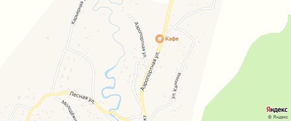 Аэропортная улица на карте села Улагана Алтая с номерами домов