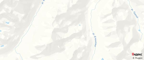 Карта Чагана-Узунского сельского поселения Республики Алтая с районами, улицами и номерами домов