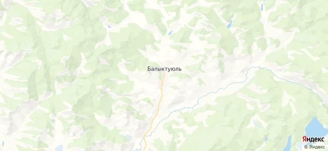 Балыктуюль на карте