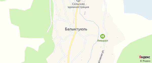 Переулок Ветеранов на карте села Балыктуюля Алтая с номерами домов