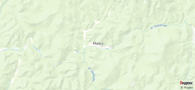 Майск на карте