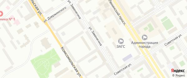 Улица Завенягина на карте Норильска с номерами домов