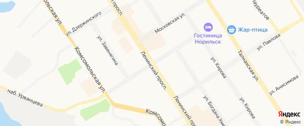 Территория ГСК 409 на карте Норильска с номерами домов
