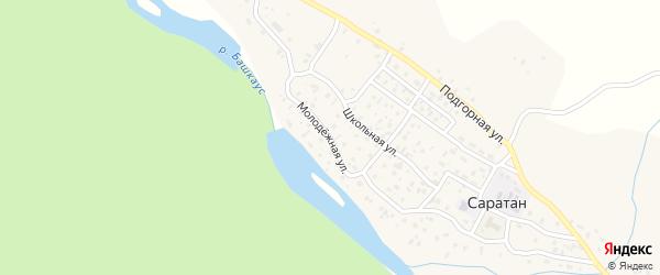 Молодежная улица на карте села Саратана Алтая с номерами домов