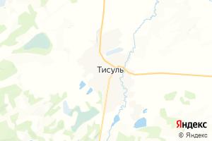 Карта пос. Тисуль Кемеровская область