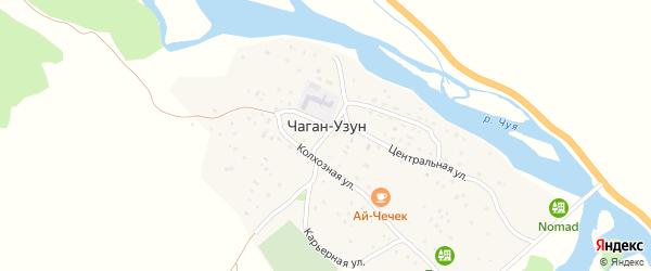 Карьерная улица на карте села Чагана-Узуна Алтая с номерами домов