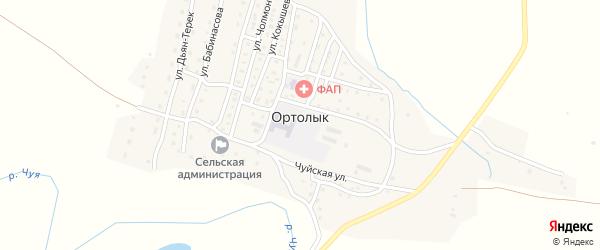 Улица Барбачаковой Л.Б. на карте села Ортолыка Алтая с номерами домов