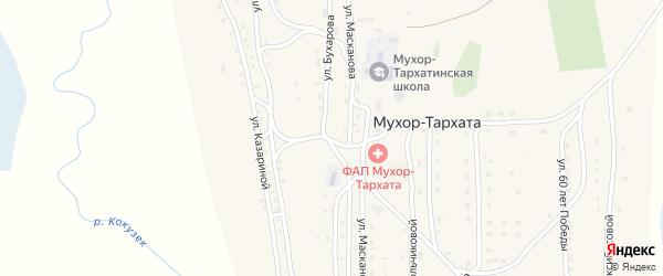 Улица 60 лет Победы на карте села Мухор-Тархата Алтая с номерами домов