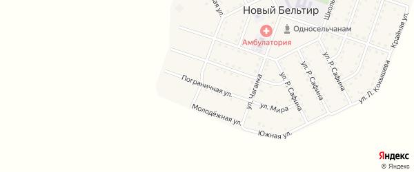 Пограничная улица на карте села Нового Бельтира Алтая с номерами домов