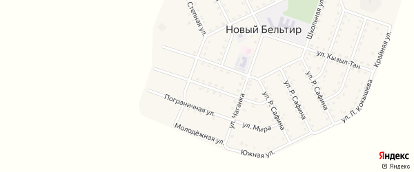 Улица Кара-Кем на карте села Нового Бельтира Алтая с номерами домов