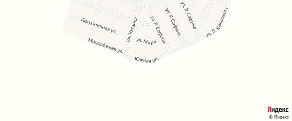 Южная улица на карте села Нового Бельтира с номерами домов
