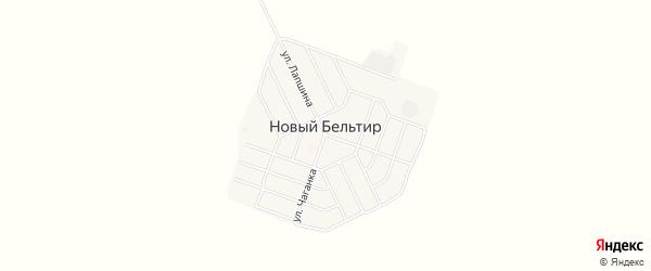Карта села Нового Бельтира в Алтае с улицами и номерами домов