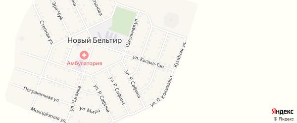 Улица Кызыл-Тан на карте села Нового Бельтира Алтая с номерами домов