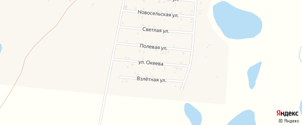 Улица Е.Океева на карте села Коша-Агача Алтая с номерами домов